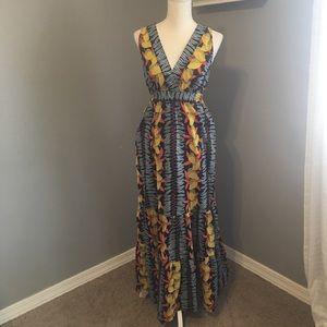 CABI Summer Maxi Dress size medium